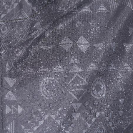 Impermeable para senderismo júnior MH150 estampada gris tribal 7 A 15 AÑOS
