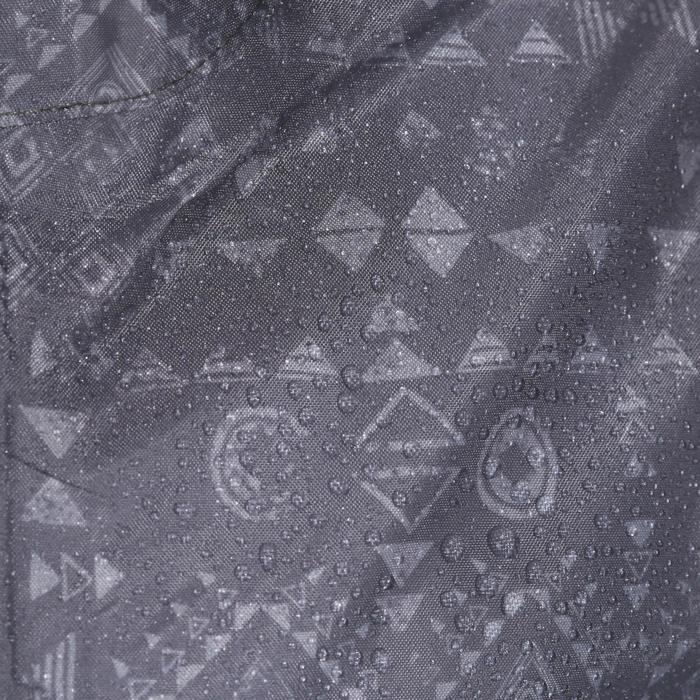 Chaqueta impermeable senderismo júnior MH150 estampada gris tribal 7 A 15 AÑOS
