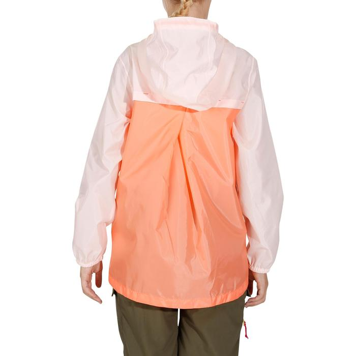 Veste imperméable de randonnée enfant Hike 150 gris imprimé tribal - 1142673