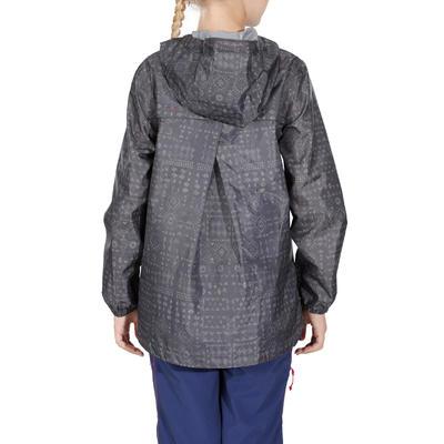 Kids' Hiking Waterproof Jacket Hike 150 - Grey Tribal Print