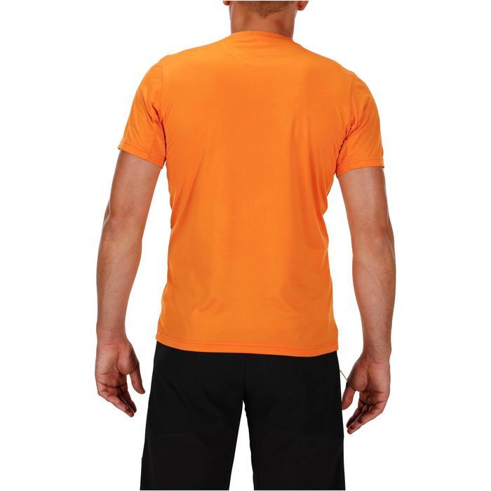 Tee Shirt Randonnée montagne MH100 manches courtes homme Gris Foncé - 1142703