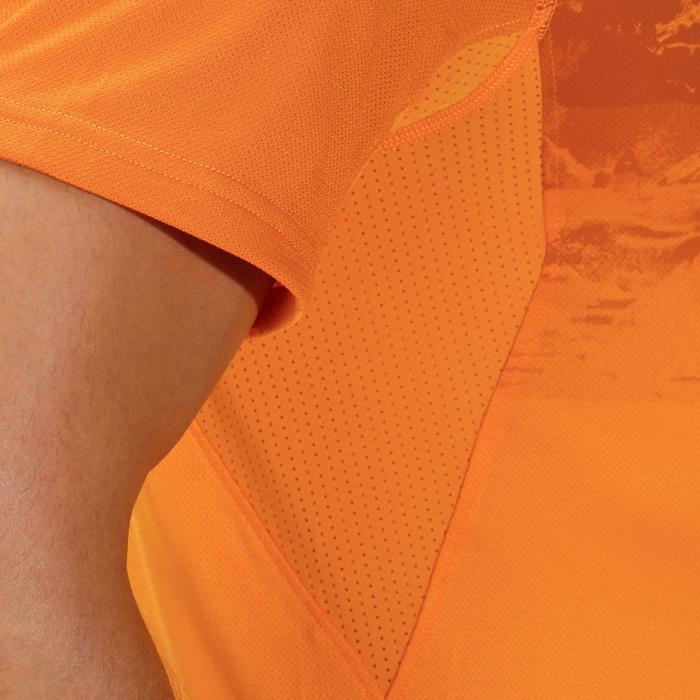Tee Shirt Manches Courtes Randonnée Tech Fresh 100 homme Gris foncé - 1142713