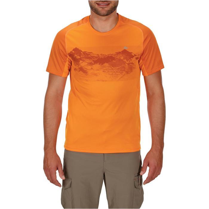 Tee Shirt Manches Courtes Randonnée Tech Fresh 100 homme Gris foncé - 1142716