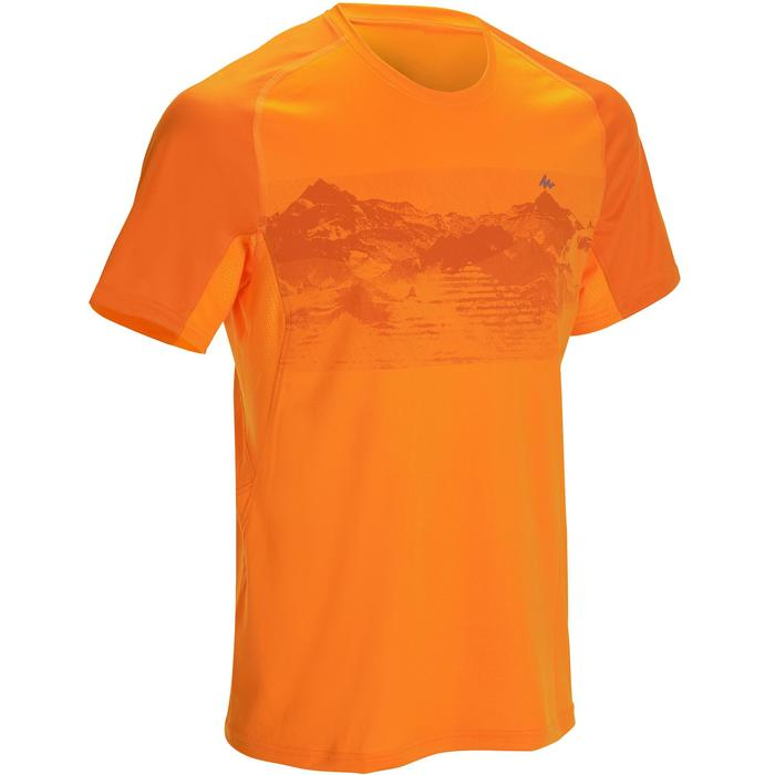 Tee Shirt Manches Courtes Randonnée Tech Fresh 100 homme Gris foncé - 1142721