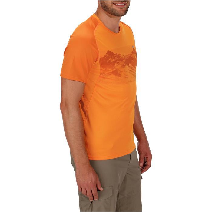 Tee Shirt Manches Courtes Randonnée Tech Fresh 100 homme Gris foncé - 1142722