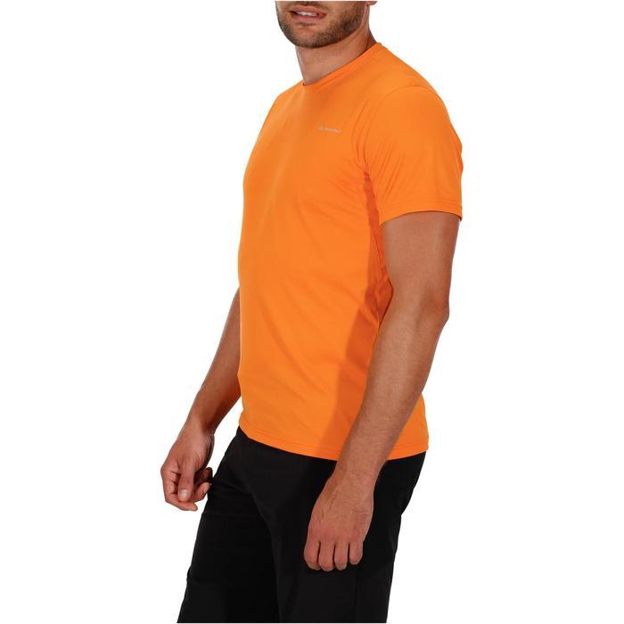 Tee Shirt Randonnée montagne MH100 manches courtes homme Gris Foncé - 1142731