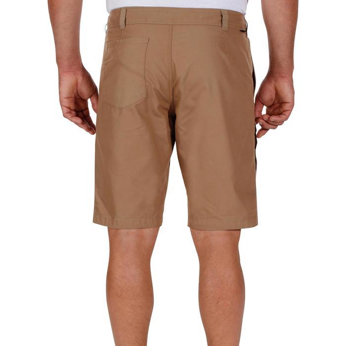 男款郊野健行短褲NH500-米色