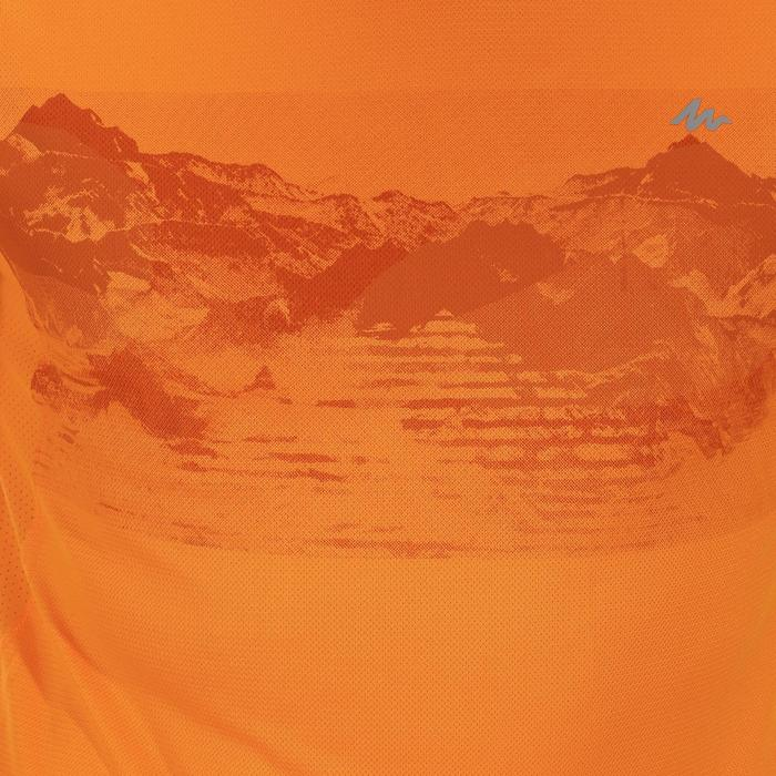 Tee Shirt Manches Courtes Randonnée Tech Fresh 100 homme Gris foncé - 1142762