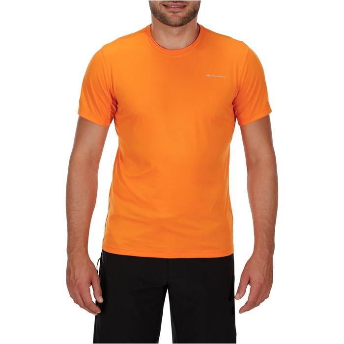 Tee Shirt Randonnée montagne MH100 manches courtes homme Gris Foncé - 1142769