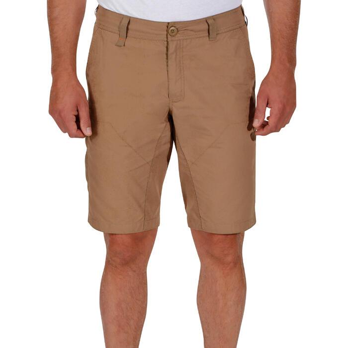 Pantalón corto de senderismo en la naturaleza hombre NH500 beige