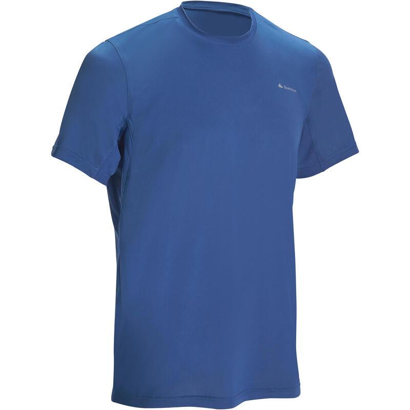 MH100 短袖登山健行T恤 - 藍色