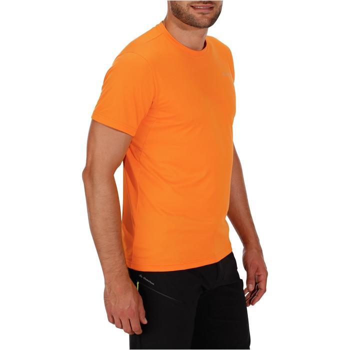 Tee Shirt Randonnée montagne MH100 manches courtes homme Gris Foncé - 1142778