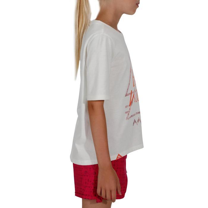 Camiseta de senderismo niños Hike 500 blanco roto