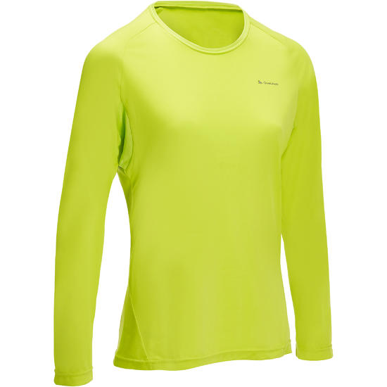 T-shirt lange mouwen trekking Techfresh 50 dames - 1142796