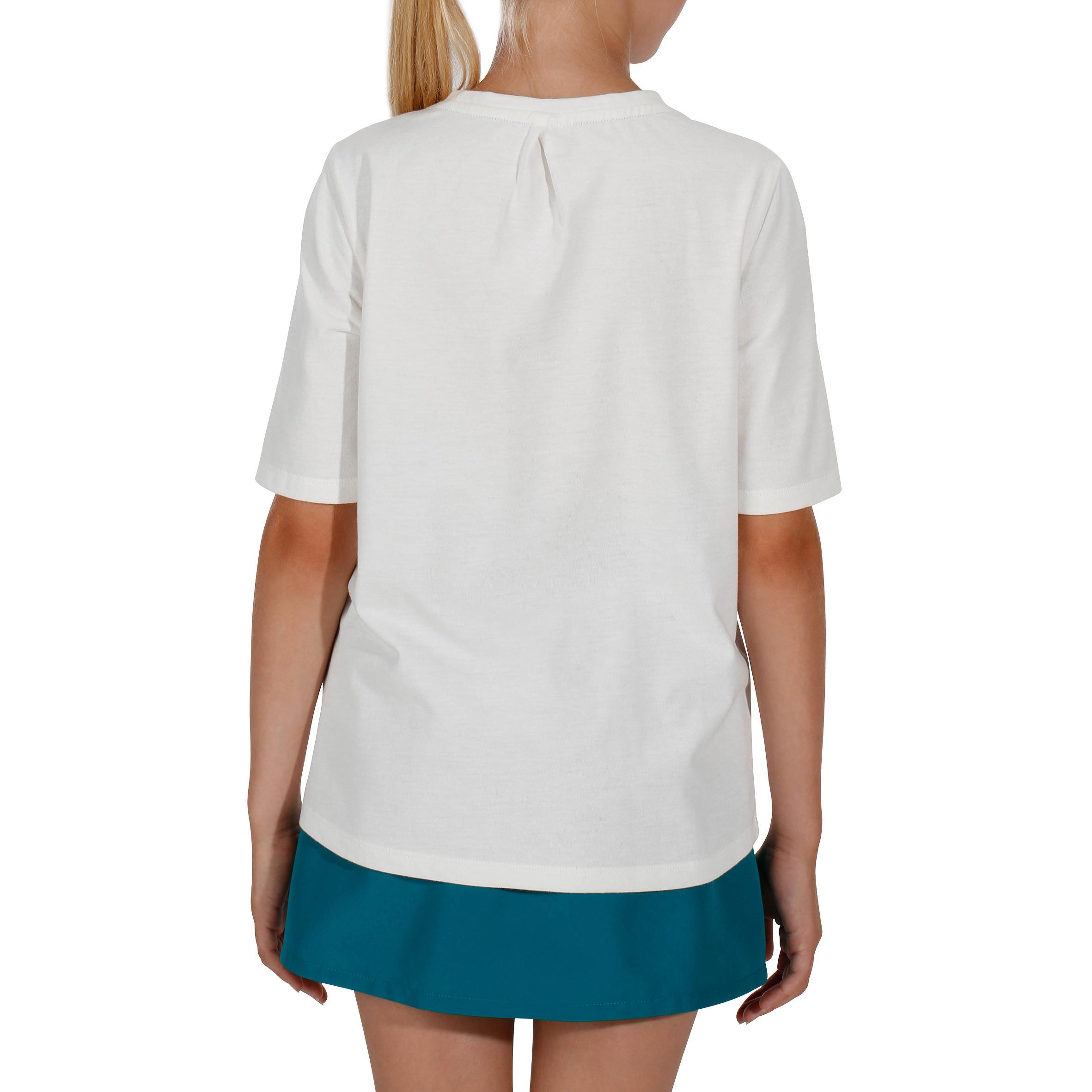 T-shirt de randonnée enfant Hike 500 blanc