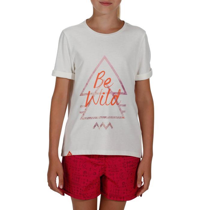 T-Shirt de randonnée enfant Hike 500 blanc cassé