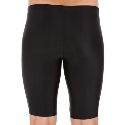 Men's Swimming Jammer Swimsuit 100 - Basic Black