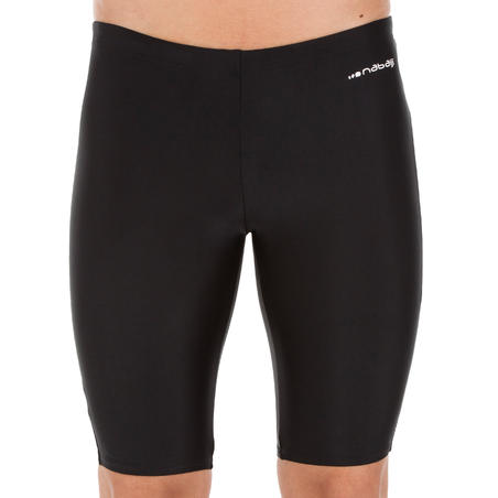 MEN'S JAMMER SWIM SHORTS - ONE BLACK