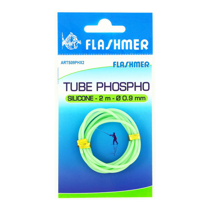 Tube phosphorescent silicone 0,9mm 2m pêche en mer