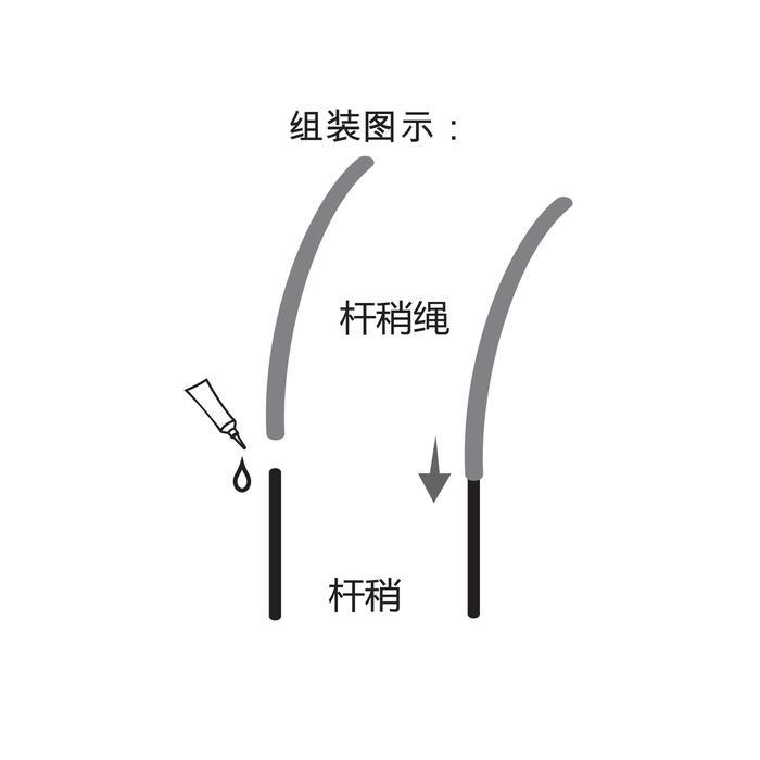 Schnurclip Line Tissue 0,8 bis 1,2 mm