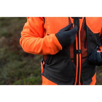 Gilet chasse 520 marron fluo - 1143194