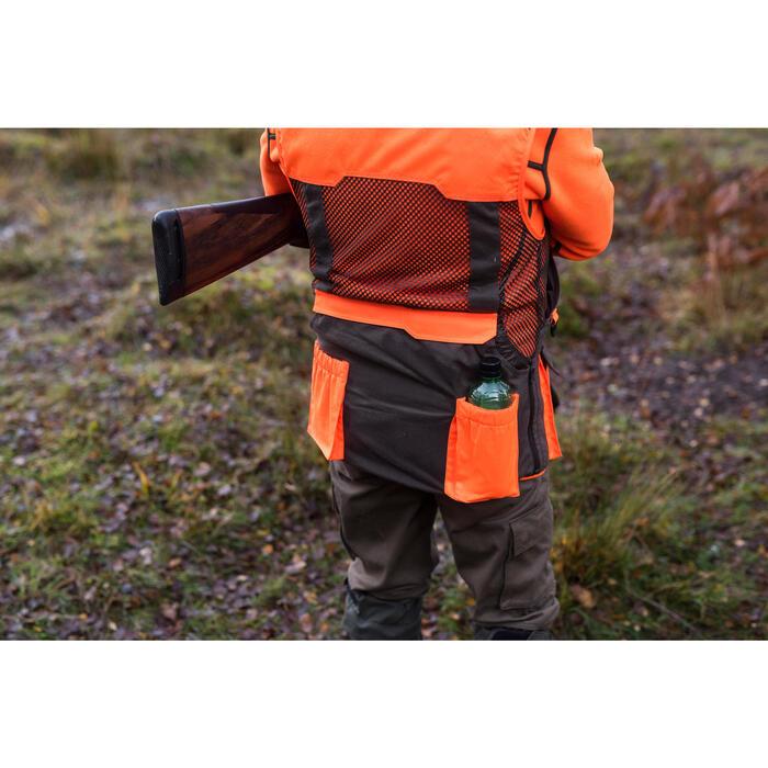 Gilet chasse 520 marron fluo - 1143195