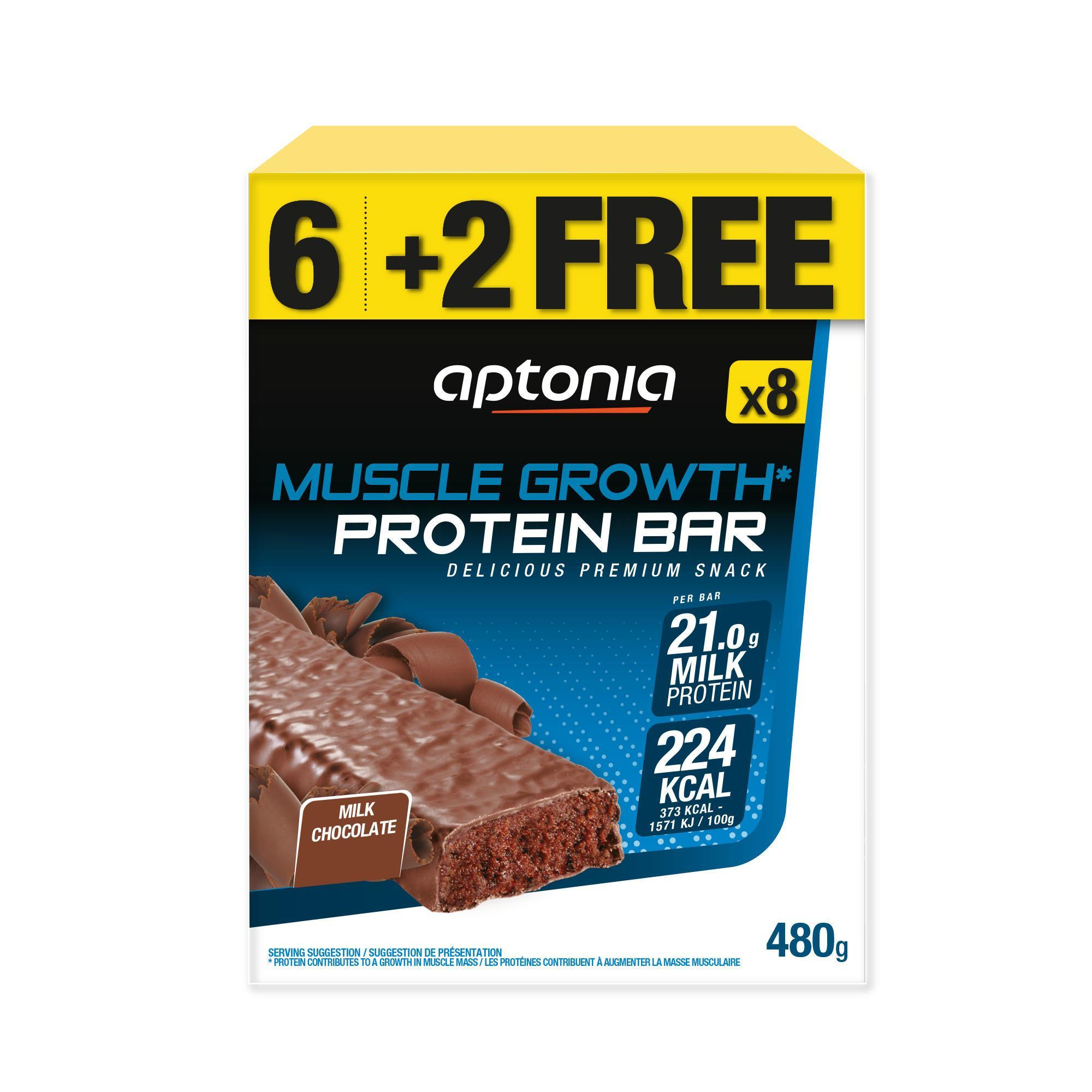 Barre de prot ines muscle growth chocolat 4x60g 6 2free aptonia - Chaufferette main decathlon ...