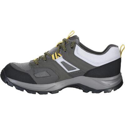 Chaussures de randonnée montagne homme MH100 imperméable Gris Jaune