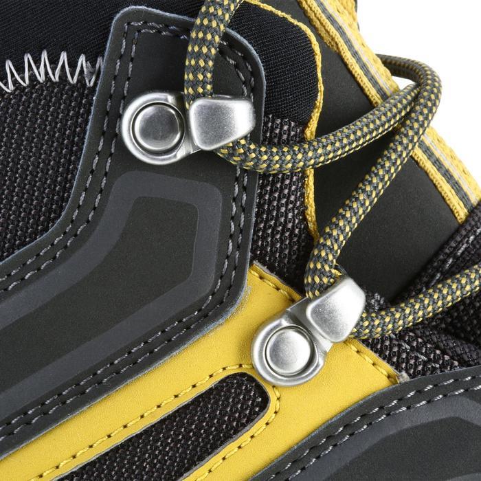 Waterdichte bergwandelschoenen voor heren MH100 mid grijs geel
