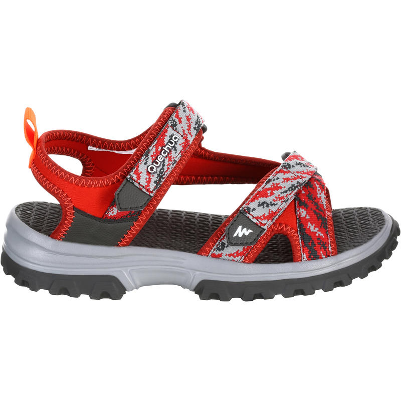 Kid's Mountain Hiking sandals MH120 TW red - jr size 10 to ad. size 6