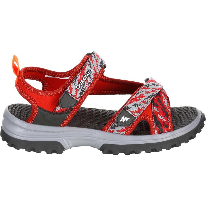 Kids' Hiking Sandals MH120 JR - Red Pix