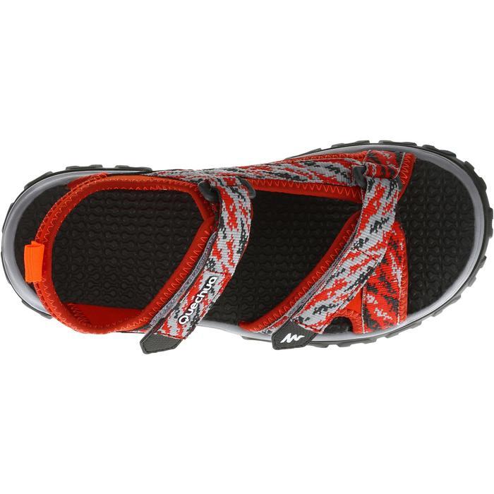 Sandales de randonnée enfant NH500 JR rouge pix