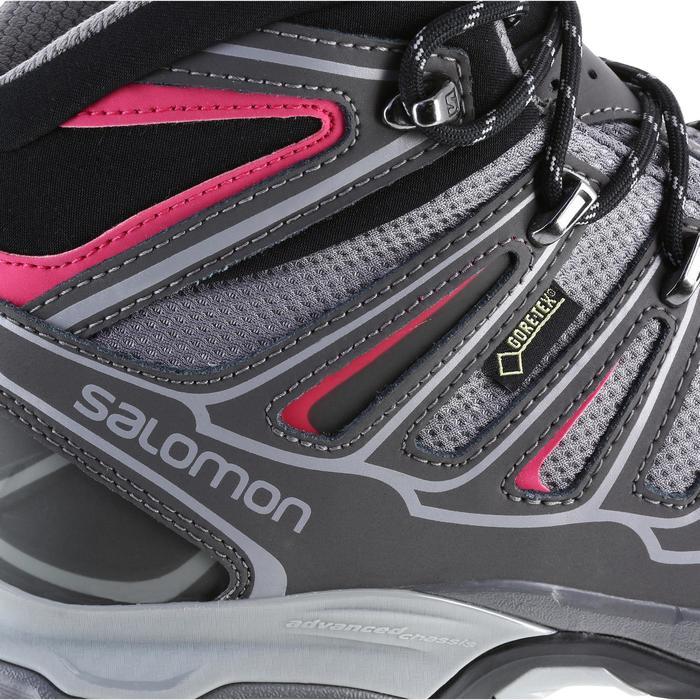 Chaussure de randonnée montagne Femme Salomon X Ultra Mid GTX Gris rose - 1143405