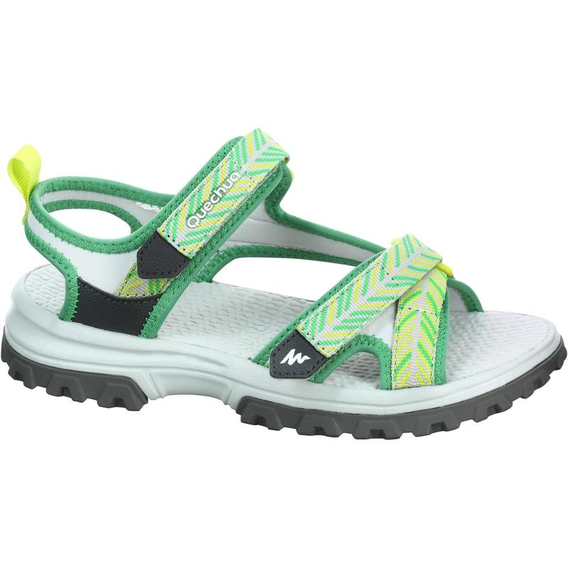 Children's hiking sandals MH120 TW yellow - JR size 10 TO 6