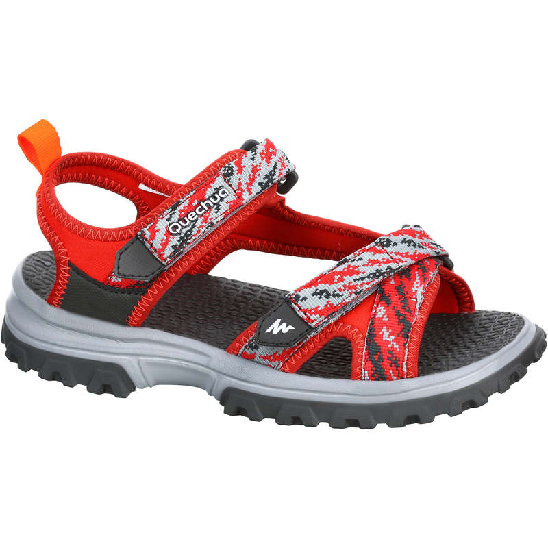 CHILDREN HIKING SANDALS Hiking - MH120 Kids Walking Sandals - Red  QUECHUA - Outdoor Shoes
