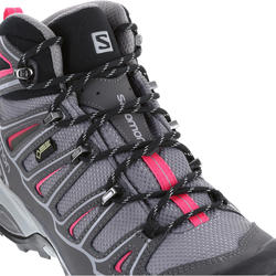 Halfhoge bergschoenen dames Salomon X Ultra GTX grijs/roze - 1143464