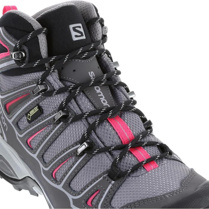 Botas de travesía montaña Mujer Salomon X Ultra Mid GTX Gris rosa