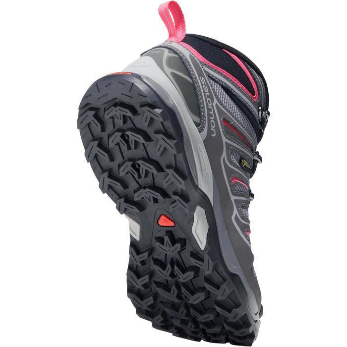 Chaussure de randonnée montagne Femme Salomon X Ultra Mid GTX Gris rose - 1143479