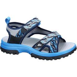 Sandales de randonnée enfant MH120 JR bleues pix