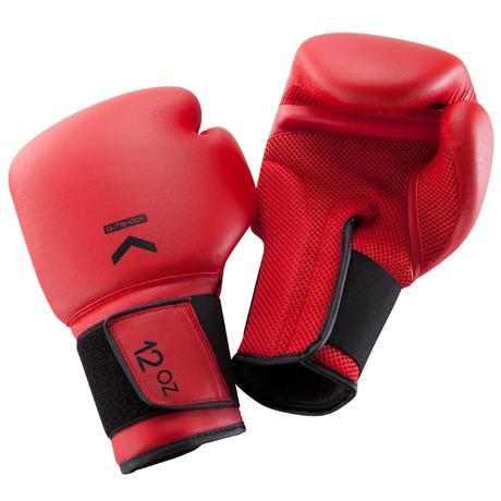 Gants de boxe 100 rouges boxeur d butant homme ou femme domyos by decathlon - Gants chauffants decathlon ...