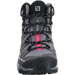 Halfhoge bergschoenen dames Salomon X Ultra GTX grijs/roze - 1143798