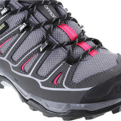 Halfhoge bergschoenen dames Salomon X Ultra GTX grijs/roze - 1143908