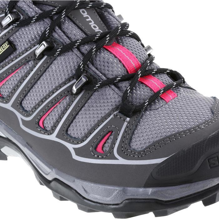 Halfhoge bergschoenen dames Salomon X Ultra GTX grijs/roze
