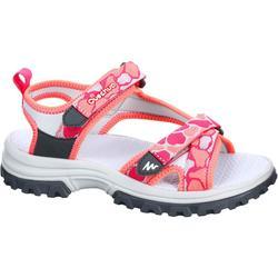 兒童健行運動涼鞋 NH500 JR - 珊瑚色