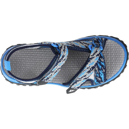 Children's hiking sandals MH120 TW blue - jr size 10 to ad. size 6