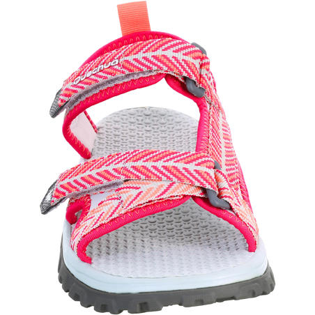 Children's hiking sandals MH120 TW pink - JR size 10 TO 6