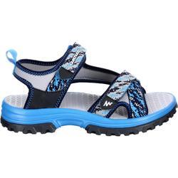 Sandalias de montaña niños NH500 JR azul talla 28 a 39