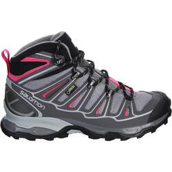 Halfhoge bergschoenen dames Salomon X Ultra GTX grijs/roze - 1144043