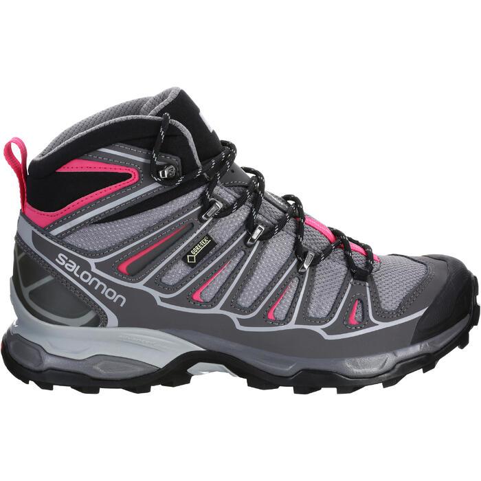 Chaussure de randonnée montagne Femme Salomon X Ultra Mid GTX Gris rose - 1144043
