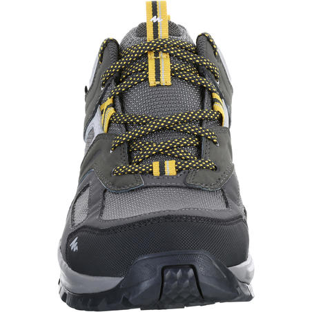 MH100 waterproof Men's Hiking shoes Grey Yellow